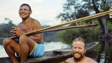 Daniel Everett with a  Piraha tribe member.
