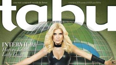 A powerful woman: Romanian cabinet minister Elena Udrea on the cover of <i>Tabu</i>.