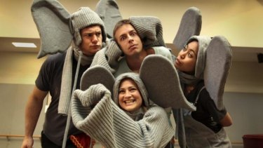 Trunk call: A NIDA cast performs in the adaptation of Dubosarsky's book.