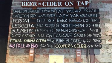 """No mention on the wall of the fact """"pints"""" are no longer pints."""