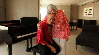 On tour: David Helfgott and his wife, Gillian.