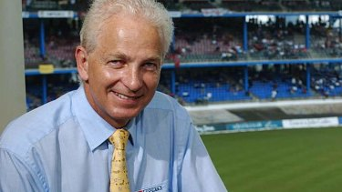 On the attack: David Gower.