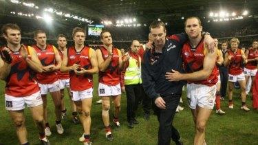 Neale Daniher's last game as Melbourne coach.