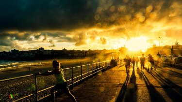 """Jonathan Armstrong won the """"landscapes and weather"""" category with <i>Last Rays</i>, which was taken at Bondi Beach."""