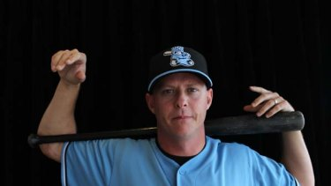 One of the $8million men ... Queensland-born Chris Oxspring  will  pitch for the Sydney Blue Sox, the overwhelming favourites for the Australian Baseball League season.