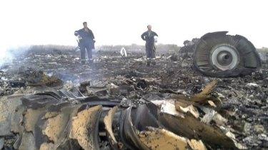 Emergencies Ministry members at the crash site.
