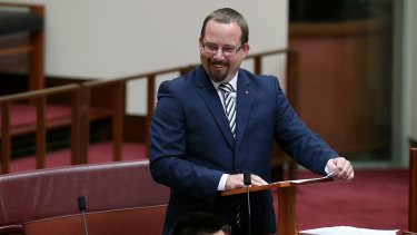 Australian Motoring Enthusiast Party senator Ricky Muir, who was elected with only 0.5 per cent of the vote, was singled out by Mr Turnbull when explaining the need for the changes.