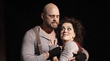 Teddy Tahu Rhodes and Antoinette Halloran in Victorian Opera's Sweeney Todd.