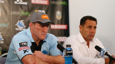 Together through the good and bad times: Paul Gallen and Flanagan, pictured in 2015.