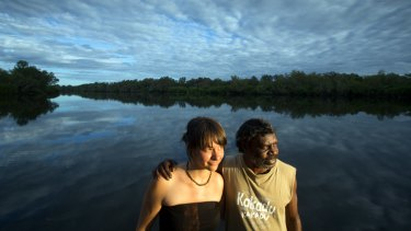 Standing on principle: Jess Housty from the Heiltsuk First Nation and Koongarra traditional owner Jeffrey Lee at the Home Billabong in Kakadu National Park.
