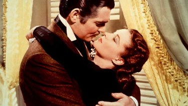 Cult status: Clark Gable and Vivien Leigh in <em>Gone With the Wind</em>.