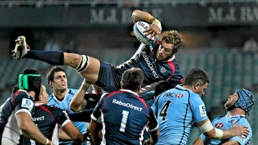 Relaxing role: Rebels second-rower Scott Higginbotham is enjoying the lack of pressure at the Melbourne side.