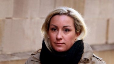 The only people who suspected she was pregnant were water polo teammates ...  Keli Lane arrives at court yesterday.