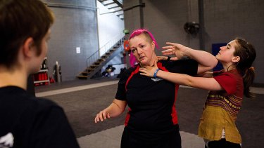 Protecting themselves ... Melbourne women learn self defence in the wake of Jill Meagher's rape and killing.