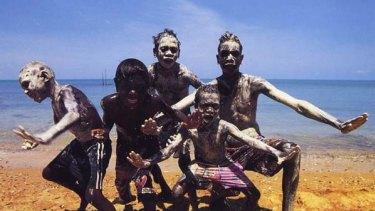 Vivid ... the photographer took award-winning pictures of indigenous children for Spirit of Arnhem Land.