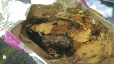 An image of the mouse allegedly found in the packet.