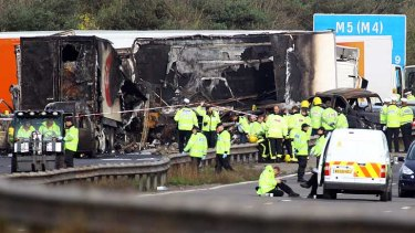 Survivors described the crash as like 'driving into a tin of emulsion.'