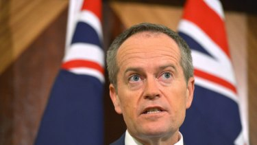 Federal Opposition Leader Bill Shorten in Melbourne earlier on Sunday.