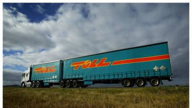 Shares in Toll, the nation's largest logistics company, rallied last month as crude oil prices began their descent.