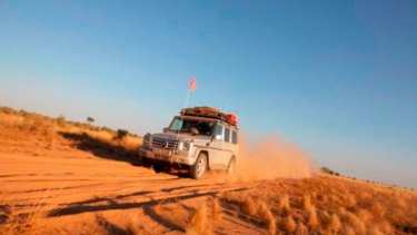 The couple was heading to Warburton when their vehicle got bogged.