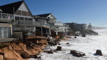 Collaroy's beach front houses were among those hardest hit when an east coast low unleashed wild weather in June.
