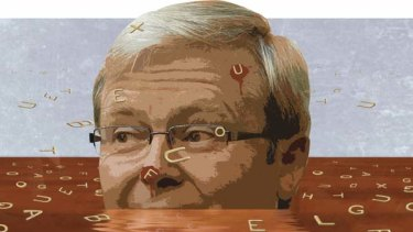 The Prime Minister, Kevin Rudd, has been accused of being sneaky by not being present for bad news announcements.