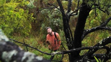 Brian Bainbridge, president of Indigenous Flora and Fauna Association in Yandell Reserve, Greensborough.