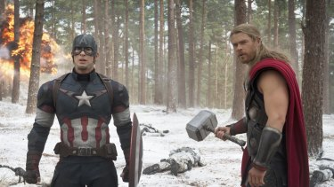 Marvel's Avengers: Age Of Ultron hit cinemas earlier this year, with Australia's own Chris Hemsworth, right, playing Thor.
