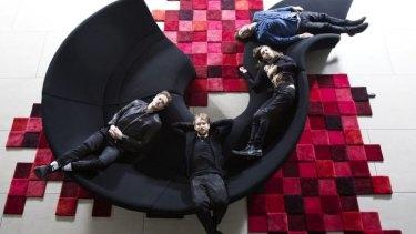 American rock band Imagine Dragons (from left): Dan Reynolds, Ben McKee, Daniel Wayne Sermon and Daniel Platzman.