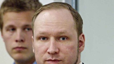 Mass-killer Anders Behring Breivik on trial in Oslo.