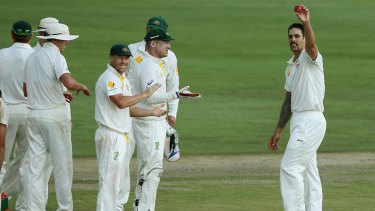 Mitchell Johnson was at times unplayable in the first Test.