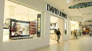 The rent yields for traditional department stores like David Jones are much lower per square metre than for newer stores like Zara.