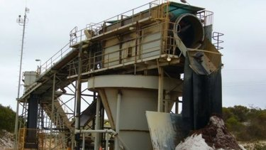 The Cape Flattery Silica Mine, which was damaged by Cyclone Ita.