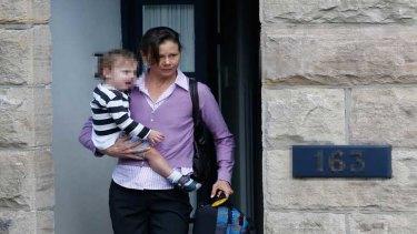 Antonia Kidman leaving the Kidman family home on Monday.