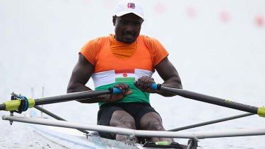 Hamadou Djibo Issaka ... rowing for only three months.