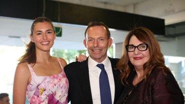 Frances Abbott, Tony Abbott and Leanne Whitehouse.