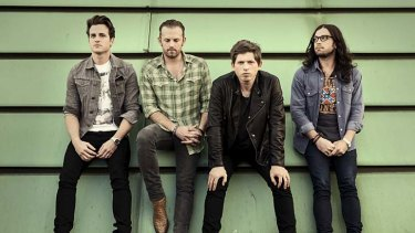 Family band: Kings of Leon are Jared (bassist), Caleb (singer), Matthew (guitarist) and Nathan Followill (drummer).