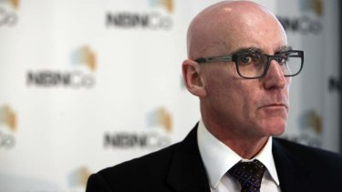 Former NBN Co CEO Mike Quigley blames contractors for delays in the infrastructure's roll out.