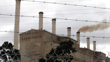 Hazelwood power station outside Morwell in Victoria.