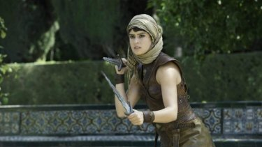 Mortal combat ... Rosabell Laurenti Sellers as Tyene Sand.