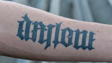 """The same tattoo can be read as """"Darlene"""", Carlisle's mother's name, the other way."""