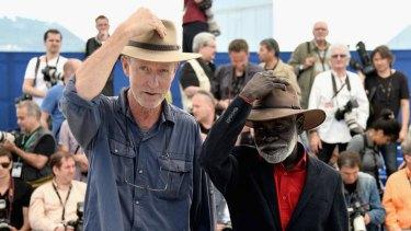 Director Rolf de Heer and Peter Djigirr at Cannes.