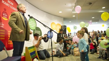 Veteran Play School host was a hit with children, parents and grandparents alike at Sunday's Sing-a-long in Canberra.