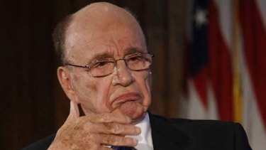 Rupert Murdoch ... his son James reportedly had dinner with David Cameron.