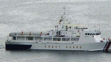 Outstanding debt ... Tenix Defence supplied two search and rescue vessels similar to this one to the Philippines Coast Guard in 2003 and 2004.