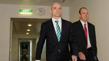 Faction leader Senator Mark Arbib (left) with Senator Joe Ludwig has resigned the ministry and his Senate spot after Labor's leadership battle.
