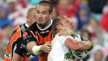 Collared … despite losing to the Tigers on Friday, the Dragons' fate would still be in their hands in a hypothetical Sydney conference.