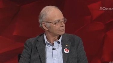 Philosopher Peter Singer said donations would be better made to organisations preventing blindness in third-world countries than to training guide dogs in Australia.
