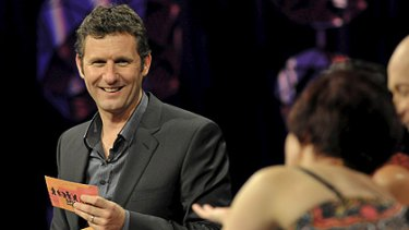 Quips and giggles ... Spicks and Specks host Adam Hills.