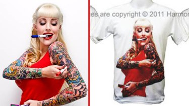 Harmony Nicholas of Adelaide has been fighting to stop businesses stealing her photos and putting them on T-shirts.